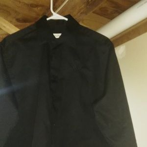 Black medium long sleeve Calvin Klein button-down